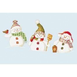 Cross stitch kit - Jolly snowmen