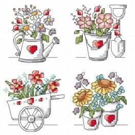 Cross stitch kit - Flowers from the garden