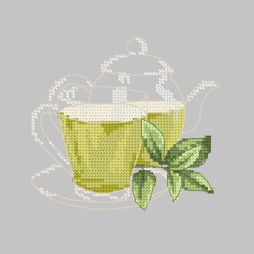 Zestaw z muliną - Zielona herbatka