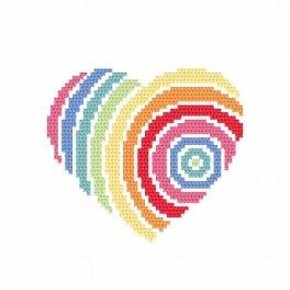 Cross stitch kit - Heart