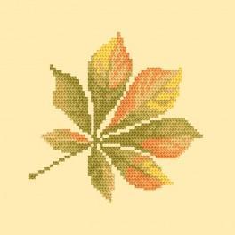 Zestaw z muliną - Liść kasztanowca