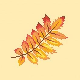 Cross stitch kit - Rowan leaf