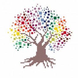 Zestaw z muliną - Barwne drzewo