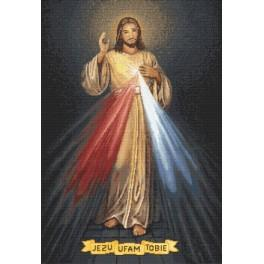 Cross stitch kit - Merciful Jesus