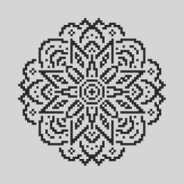 Cross stitch kit - Embroidered lace