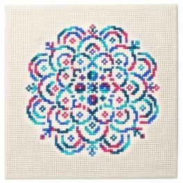 Cross stitch kit - Embroidered lace II
