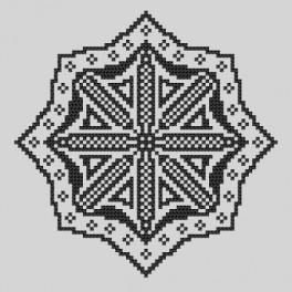Cross stitch kit - Embroidered lace VI
