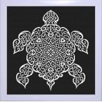 Cross stitch kit - Lace turtle