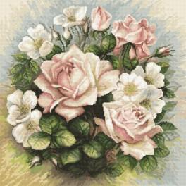 Z 8845 Cross stitch kit - Pastel roses