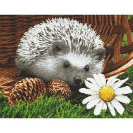 Cross stitch kit - Hedgehog in the basket