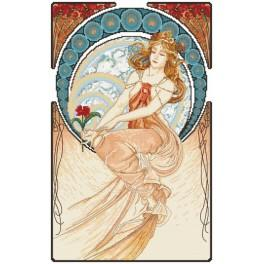 Cross stitch kit - Painting by A. Mucha