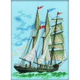 "Cross stitch kit - ""Hippolytus"" barquentine"