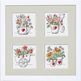 Kit with mouline and frame - Flowers from the garden