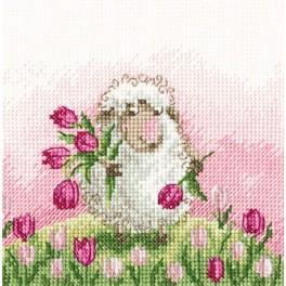 Zestaw z muliną - Życzenie w każdym kwiatku