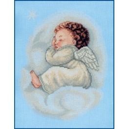 Zestaw z muliną - Śpiący aniołek