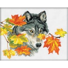 Cross stitch kit - Wolf