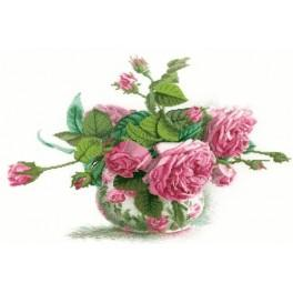 Cross stitch kit - Roses in the vase