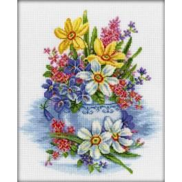 ZTM 276 Cross stitch kit - Tender flowers