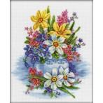 ZTM 276 Cross stitch kit - Tender flowers