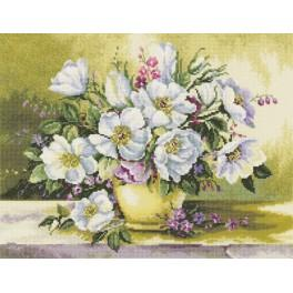 Cross stitch kit - Bouquet flowers