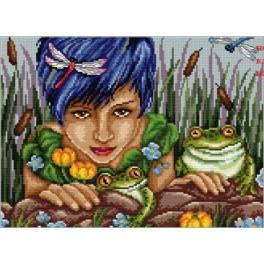 Cross stitch kit - Girl