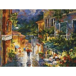 Cross stitch kit - Rainy street