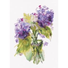 Zestaw z muliną - Kwiatostany hortensji