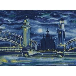 Cross stitch kit - Fairytale night in St. Petersburg