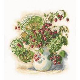 Cross stitch kit - Hydrangea and raspberries