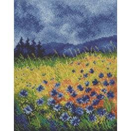 Cross stitch kit - Skyblue cornflowers