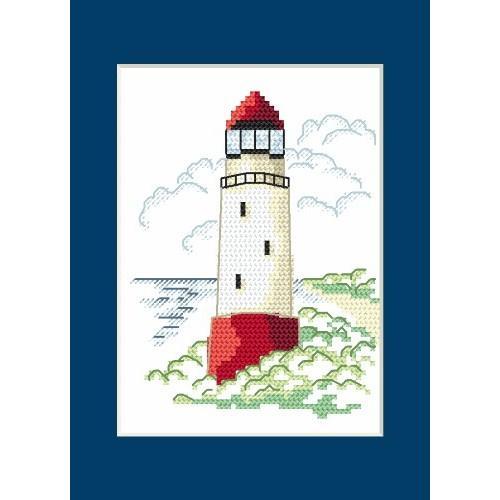 Cross stitch kit - Card - Landscape with sea light I