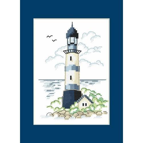 Cross stitch kit - Card - Landscape with sea light II