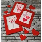 Cross stitch kit - Card - Hearts