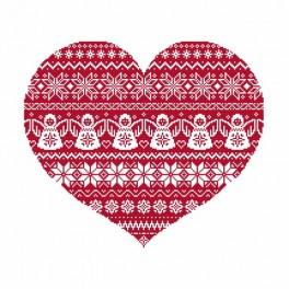Cross stitch kit - Scandinavian heart