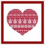 Cross stitch kit - Scandinavian heart