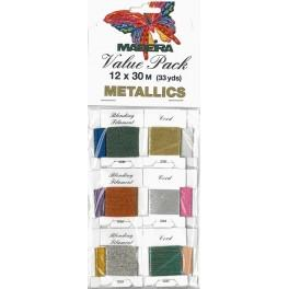Value Pack - METALLICS 12 x 30 m