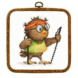 Kit with tapestry and frame - Little owl – Walker