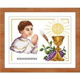 Set with tapestry, mouline and frame