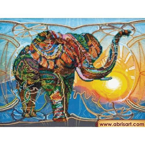 Set with beads - Mosaic elephant