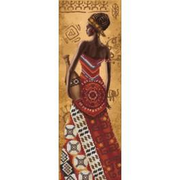 NHD 2076 Kit with beads - African woman with pitcher