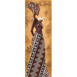 NHD 2077 Kit with beads - African woman with lily