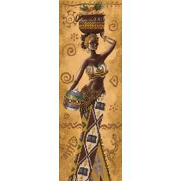 NHD 2078 Kit with beads - African woman with fruits