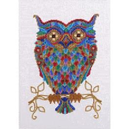 Set with beads - Colourful owl