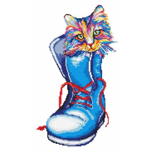 ZK 4361 Kit with beads - Cat in a shoe