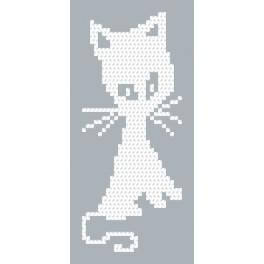 Kit with beads - White cat