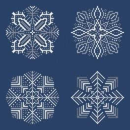 ZK 8820 Kit with beads - Snowflakes