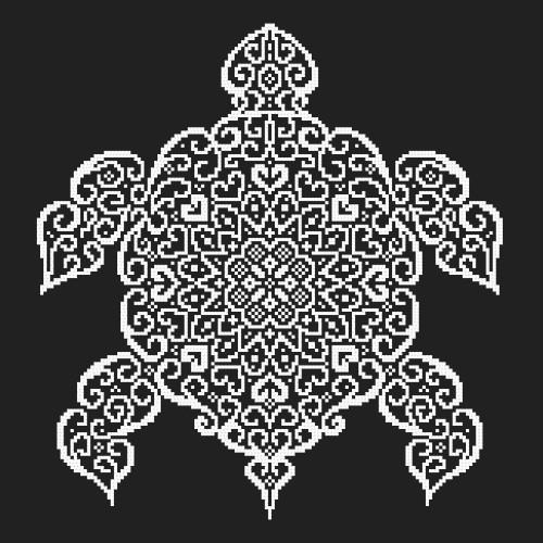 Kit with beads - Lace turtle
