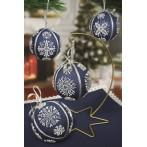 Kit with beads - Christmas balls with snowflakes