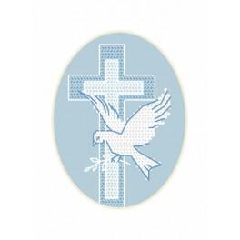 Cross stitch kit - Card - Dove