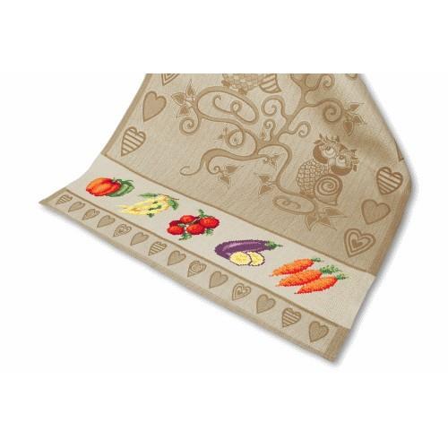 Cross stitch set with a dishcloth